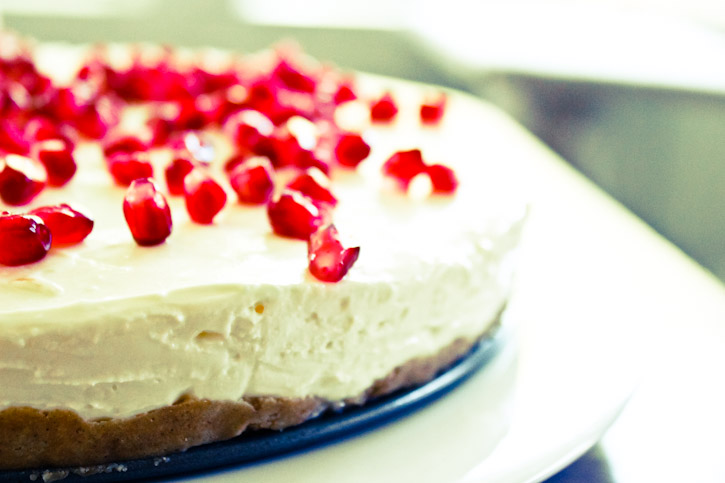 Quark & Pomegranate Cheesecake :: The Scandinavian Baker